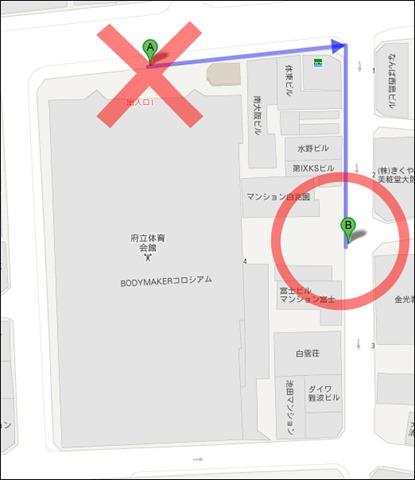 大阪府立東入口地図